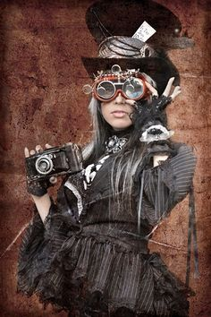 Steampunk its more than an aesthetic style, it's the longing for the past that never was. In Steampunk Girls we display professional pictures, and illustrations of Steampunk, Dieselpunk and other anachronistic 'punks. Some cosplay too! Steampunk Cosplay, Chat Steampunk, Style Steampunk, Steampunk Design, Gothic Steampunk, Steampunk Clothing, Steampunk Fashion, Steampunk Outfits, Steampunk Goggles