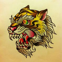 #traditional #tattoo #tiger