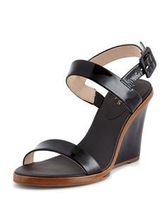 nice patent wedge sandal, black by kate spade new york at Neiman Marcus.