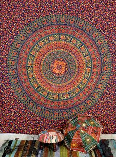 Indian wall hanging 100% cotton tapestry bed cover bed sheet bed spread bohemian wall hanging,Indian wall hanging,home decor,hippie tapestry on Etsy, $21.99