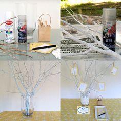 Voilà une idée original qui change du traditionnel livre d'or : l'arbre à vœux des idées à repiquer pour mettre en place l'arbre a voeux le jour du mariage