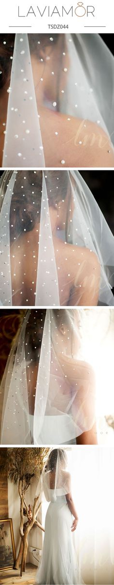 Wedding accessories and wedding hairstyles idea,A romantic veil dripping with hundreds of hand sewn pearls and Crystal, this veil is stunning and unique.A crystal and pearls veil brings a touch of opulence. Mantilla Veil, Lace Veils, Wedding Veils, Bridal Veils, Hair Wedding, Dream Wedding, Wedding Dresses, Perfect Wedding, Kardashian Wedding