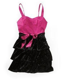 Aropostale Velvet Tiered Woven Dress