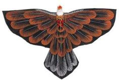 Novica Hand-Painted Hawk Kite in Brown from Bali