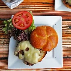 Seasoned Grilled Burgers with Caramelized Onions