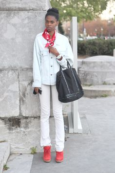 #PFW day 7: Everyone's wearing top-to-toe winter white