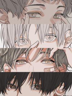 Cute Anime Boy, Anime Art Girl, Manga Art, Boy Anime Eyes, Anime Drawings Sketches, Anime Sketch, Art Drawings, Cartoon Kunst, Cartoon Art