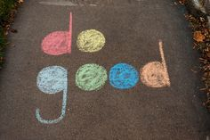 Do good., The sight of kids drawing on the pavement with sidewalk chalk is practically guaranteed to induce a, Chalk Wall, 3d Chalk Art, Chalk Design, Art Disney, Sidewalk Chalk Art, Chalk It Up, Chalkboard Art, Art Inspo, Art Drawings