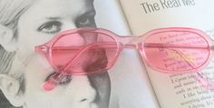 1980s PINK SPECTACLES Sunglasses..specs. pink. by retroandme