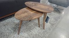 Ayo Nesting Tables - A touch of elegance mixed with Mid-Century Style. #whatsnew #whatstrending #shelterliving #nestingtable #walnut #millennialstyle #caledoniadesigndistrict #shelterliving
