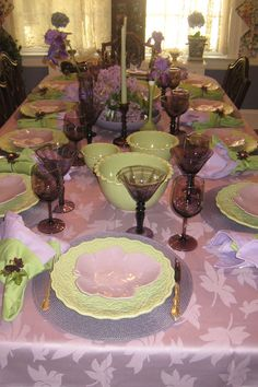 The Tablescaper: Lilac and Spring Green Celebration