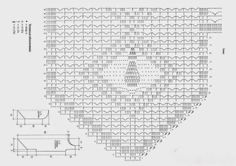 Saída de Praia Branca em Crochet de manga longa, tem o gráfico e sugestão de blusa sem manga, tipo regata