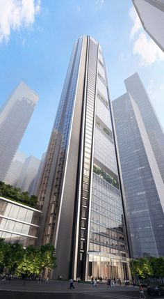 The mixed-use China Merchants Bank HQ project will primarily consist of office space China Architecture, Modern Architecture Design, Commercial Architecture, Futuristic Architecture, Modern Buildings, Beautiful Buildings, Amazing Architecture, Office Buildings, Building Architecture