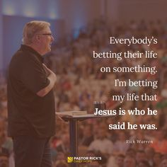 """""""Jesus told him, 'I am the way, the truth, and the life. No one can come to the Father except through me'"""" (John 14:6 NLT, second edition). #RickWarren #RickWarrenQuote #DailyHope"""