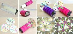 Learn how to make a kaleidoscope in this fun STEM/science activity for kids. Day Camp Activities, Indoor Activities For Toddlers, Montessori Activities, Kid Science, Stem Science, Summer Crafts For Kids, Art For Kids, Crafts To Make, Easy Crafts