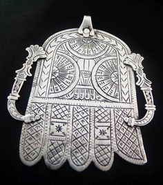 Africa | Khamsa ~ Hand of Fatima ~ from Marrakech | 20th century | Silver | Sold