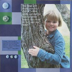 Scrapbook Page Ideas Using Quotes: The Best and Most Beautiful Things Scrapbook Page by Rebecca