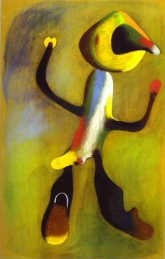 """""""Joan Miró-Carácter"""", óleo de Joan Miro (1893-1983, Spain)"""
