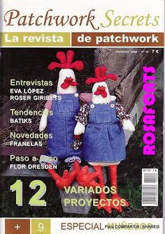 Patchwork Secrets 10 - Majalbarraque M. Sewing Magazines, Book Quilt, Book Crafts, Baby Toys, Fabric Crafts, Sewing Patterns, Projects To Try, Embroidery, Quilts