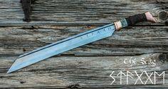 Hand Forged Sword Viking Seax by HammerShoppeForge on Etsy