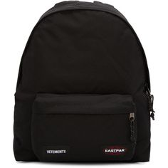 Vetements Black Eastpack Edition Oversized PAKR Backpack (€920) ❤ liked on Polyvore featuring men's fashion, men's bags and men's backpacks
