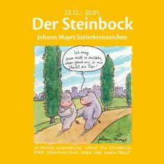 #Sternzeichenbuch #Steinbock mit lustigen #Cartoons und Texten.