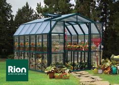 Rion Grand Gardener 2 Clear - 8' x 12' Polycarbonate Greenhouse