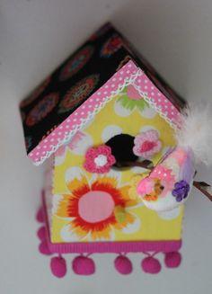 Fleur en kleur ! www.babbelzzz.punt.nl Vogelhuisje / Birdhouse