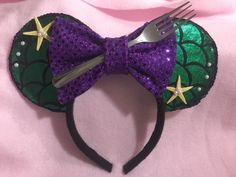 Minnie Mouse Ears Ariel by CrazyBeautifulCreati on Etsy