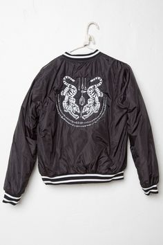 Brandy ♥ Melville | Liz Tiger Embroidery Bomber Jacket