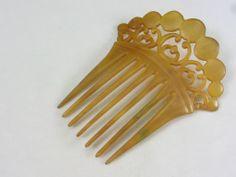 Victorian Horn Hair Comb