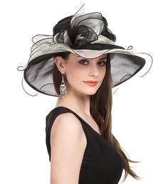 SAFERIN Women's Organza Church Kentucky Derby Fascinator Bridal Tea Party Wedding Hat (Black and Beige Big Bow) Material: Organza. Kentucky Derby Outfit, Derby Attire, Kentucky Derby Fashion, Kentucky Derby Fascinator, Derby Outfits, Wedding Hats, Party Wedding, Tea Party, Sun Hats For Women