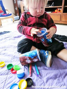 Learn with Play at home: Make your own Fine Motor Activity for Toddlers