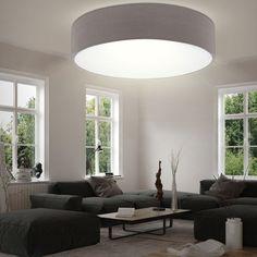 LED Textil Decken Leuchte Wohn Schlaf Zimmer Beleuchtung Rund Stoff Lampe Braun   Möbel & Wohnen, Beleuchtung, Deckenlampen & Kronleuchter   eBay!
