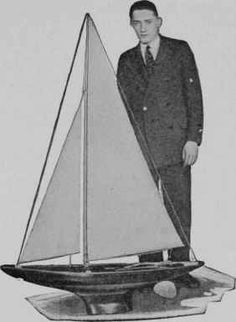 """Sea Scout"" Racing Yacht Model"