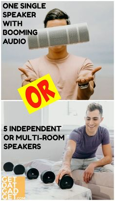 The Air Audio is not a single speaker. It is made up of 5 speakers (1 AirBase that acts as a hub + 4 AirConnect speakers) that can be joined together as one magnetically. The Air Audio speakers also function as multi-room speakers or work independently as 5 separate Bluetooth speakers. #GgetdatGadget #AirAudio #BluetoothSpeaker #SurroundSpeakers #MultiroomSpeakers #WirelessSpeaker Multi Room Speakers, Bluetooth Speakers, Surround Speakers, Internet Trends, Audio Music, High Tech Gadgets, Pull Apart, Audio Equipment, First World