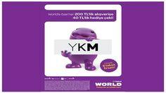 YKM Mağazalarında World Card'a Özel Her 200 TL'lik Alışverişinize 40 TL Hediye