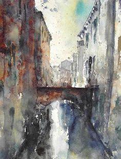 Kanal in Venedig  2007 (30x40) (Privatbesitz)