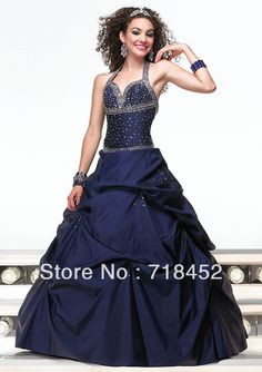 >> Click to Buy << 2013 A-line / Princess Taffeta Halter Newest Prom Dress Custom Glamorous Floor Length MG073 #Affiliate