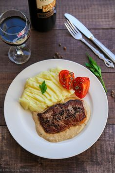 The perfect Pepper Steak or steak au poivre!  Thermapen