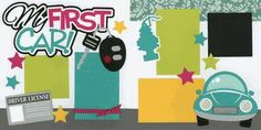 my first Car Scrapbook Page | My First Car!-Girl Page Kit | Crafty Stuff