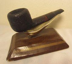 Vintage Carlyle Denmark Sandblasted Oval Shape Briar Estate Tobacco Smoking Pipe