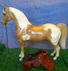 Breyer Western Horse 1956 to 1967 - My cousin loved horses, we always had to play with her Breyer horses .