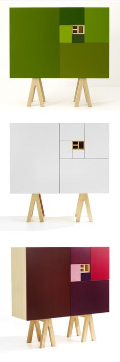 by Jesper Stahl   Fibonacci's cabinet  Cabinet of the Golden mean
