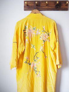 Vintage yellow kimono -90s