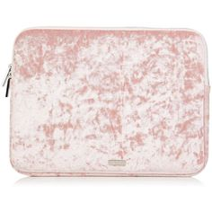 """Pink Crushed Velvet 13"""" Laptop Case (96 BRL) ❤ liked on Polyvore featuring accessories, tech accessories, pink laptop cases, laptop sleeve cases and laptop cases"""