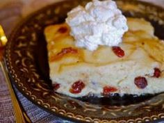 Slow Cooked Cranberry Bread Pudding
