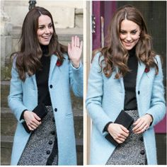 After visiting HMP Eastwood Park The Duchess visited The Nelson Trust Women's Centre in Gloucester, Kate's wearing a Mulberry coat. #KateMiddleton #TheDuchessOfCambridge