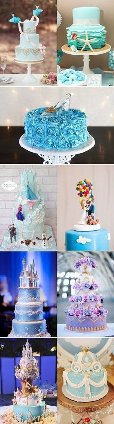 23 Princess Dream Come True Fairytale Wedding Cakes - Disney-Inspired Wedding Cakes! #goldweddingcakes