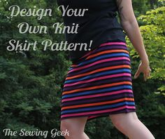 Use my online calculator to design your own yoga waist knit skirt pattern. Make as many as you want in any size you wish!